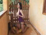 Kawana and Bruna lady-man pantyhose clip