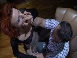 Marianne and Nicholas screened whilst pantyhosing