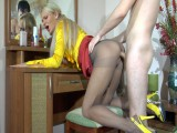 Dolly and Rolf tights fuck clip
