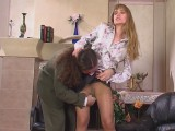Diana and Lesley nasty panty hose action