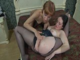 Gwendolen and Sophy nasty tights action