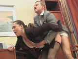 Joan and Adrian secretary panty hose episode