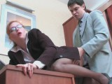Penelope and Adam office panty hose sex movie