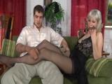 Natali and Lucas kinky nylons act