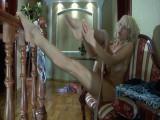 Christiana in astounding pantyhose movie