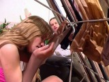 Diana and Lesley immoral pantyhose job movie