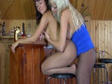 Lieila and Margo lesbo pantyhosing on movie scene