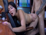 MimaA and Frederic office pantyhose sex video