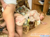 Ninette and Bertram pervy anal stockings action