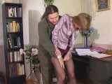 Diana and Lesley lewd leggings video