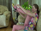 Gloria pantyhose tease movie scene