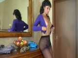 Tavia in nifty pantyhose movie