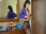 Tavia in nifty pantyhose movie