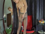 Megan in nylons action