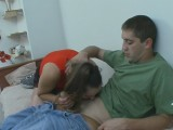 Julia and Rudolf screened whilst pantyhosing