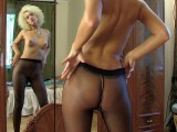 Trudy in panty hose video