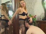 Alice and Frank sexually excited panty hose episode