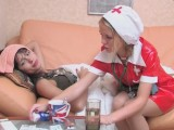 Alina and Catherine screened whilst pantyhosefucking